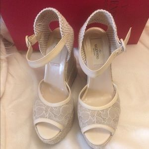 Authentic Valentino lace wedges
